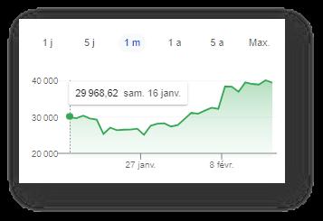 Graphique début 2021 sur le taux du Bitcoin selon Google